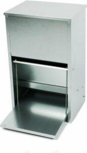 Duvo+ Trapbakkensilo Galvanise 12Kg - Voerautomaat - 22 cm x 30 cm x 50 cm - Zilverkleurig