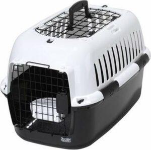 Ebi Adventurer 60 charcoal reismand - kleine hond of kat - Zwart-Wit - 57 x 38 x 38cm
