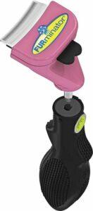 Furminator Furflex Cat Deshedding Tool Inclusief Handvat 13.5x5.4x18 cm Lichtroze Alle Haartype Small
