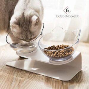 GOLDENDEALER™ - Dieren Water & Voer Set - Katten - Voerbak -kattenvoerbakjes