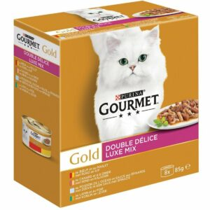 Gourmet Gold Luxe Mix - Kattenvoer Vis & Vlees - 48 x 85 g