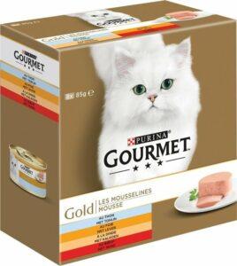 Gourmet Gold Mousse - Kattenvoer Rund & Tonijn & Kalkoen - 48 x 85 g