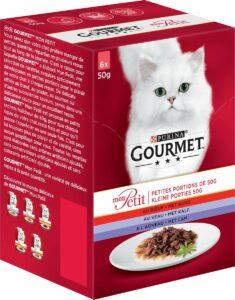 Gourmet Mon Petit - Kattenvoer Rund, Kalf & Lam - 24 x 50 g