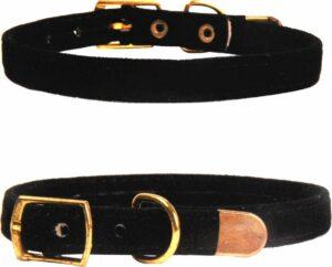 Hiden - Velvet Katten Halsband – Huisdier – Mooi & Gezond - Zwart