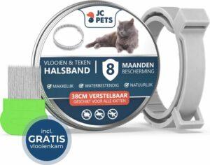 JC. Teken- en Vlooienband Kat - Alle Maten - Anti Vlooien voor Katten - Vlooien Kat - Tekenband - Diervriendelijk