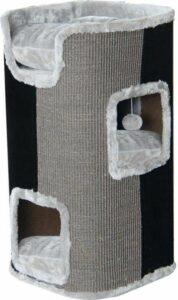 Krabpaal klimmeubel 2-gaats grijs - zwart 75 cm