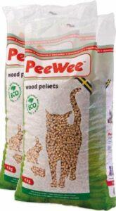 Peewee kattenbakvulling 2x9kg + gezonde kattensnack