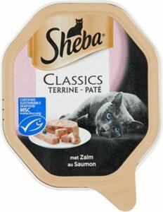 Sheba Classics Paté Kuipje - Zalm - Kattenvoer - 22 x 85g