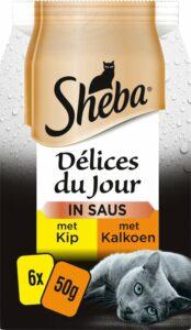 Sheba Delices du Jour - Gevogelte in saus - kattenvoer - maaltijdzakjes - 36x50g