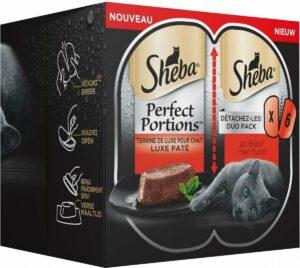 Sheba Perfect Portions - Luxe paté met rund - Kattenvoer - 48 porties