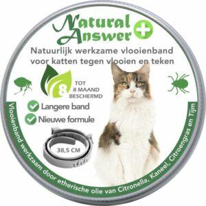 Teken- en Vlooienband voor katten PLUS - Natuurlijk middel tegen vlooien en teken - 100% natuurlijk