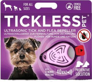 Tickless Kat - Teken-Vlooien Afweer - Ultrasound - Roze - 4,8 x 2,8 x 1 cm