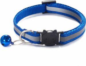 Verstelbaar Halsbandje - Met Belletje - Reflecterend - Donkerblauw