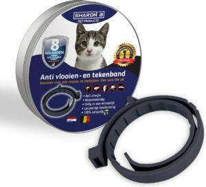 Vlooienband voor katten - Zwart - 100% natuurlijk - Geen pesticiden - Tegen vlooien en teken - Veilig voor mens en dier - Milieuvriendelijk en effectief