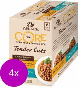 Wellness Core Tender Cuts Chicken Selection - Kattenvoer - 4 x Kip 6x85 g