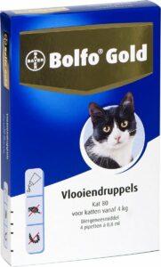 Bayer Bolfo Gold 80 Anti vlooienmiddel - Kat - 4 kg - 4 pipetten