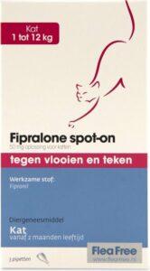 Flea Free Fipralone spot-on kat 1 tot 12 kg - 3 pipet